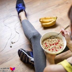 رژیم غذایی دختر ورزشکار