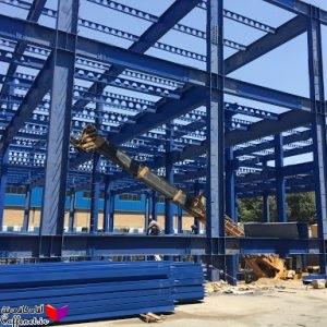 پروژه ساختمان فولادی بهمراه نقشه ها و محاسبات