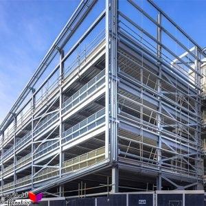 پروژه بارگذاری، تحلیل و طراحی ساختمان فولادی
