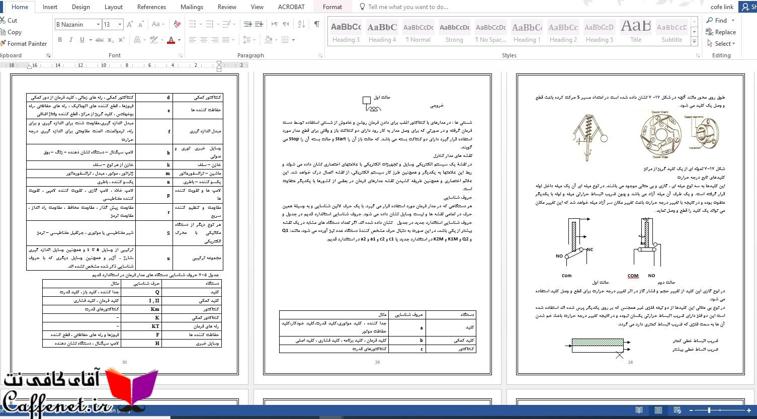 گزارش کارآموزی ساخت تابلو برق